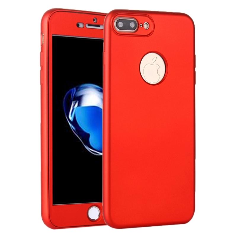 4cd06b5262 Szilikonos tok iPhone 8 Plus / 7 Plus készülékre 360° védelemmel - elülső és  hátsó ...