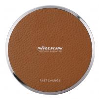 NILLKIN gyors vezeték nélküli töltő / Qi Magic Disk III töltő alátét Apple iPhone készülékhez - barna