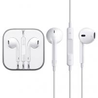 Fejhallgató mikrofonnal távirányítóval - Apple készülékhez - fehér