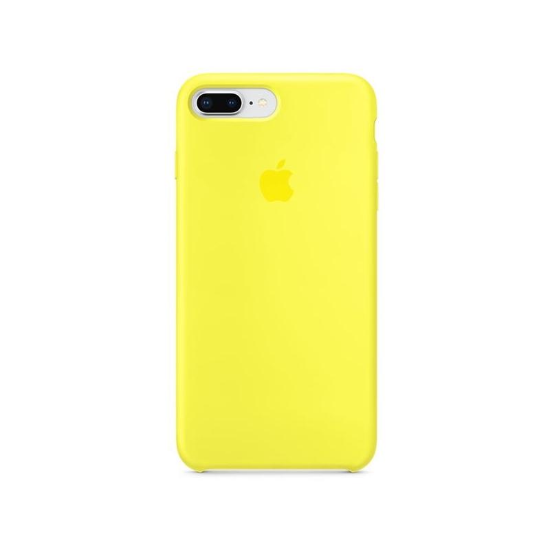443a4f7ea1 Eredeti szilikon fedél Apple iPhone 8 Plus / 7 Plus készülékre - fényes  sárga ...