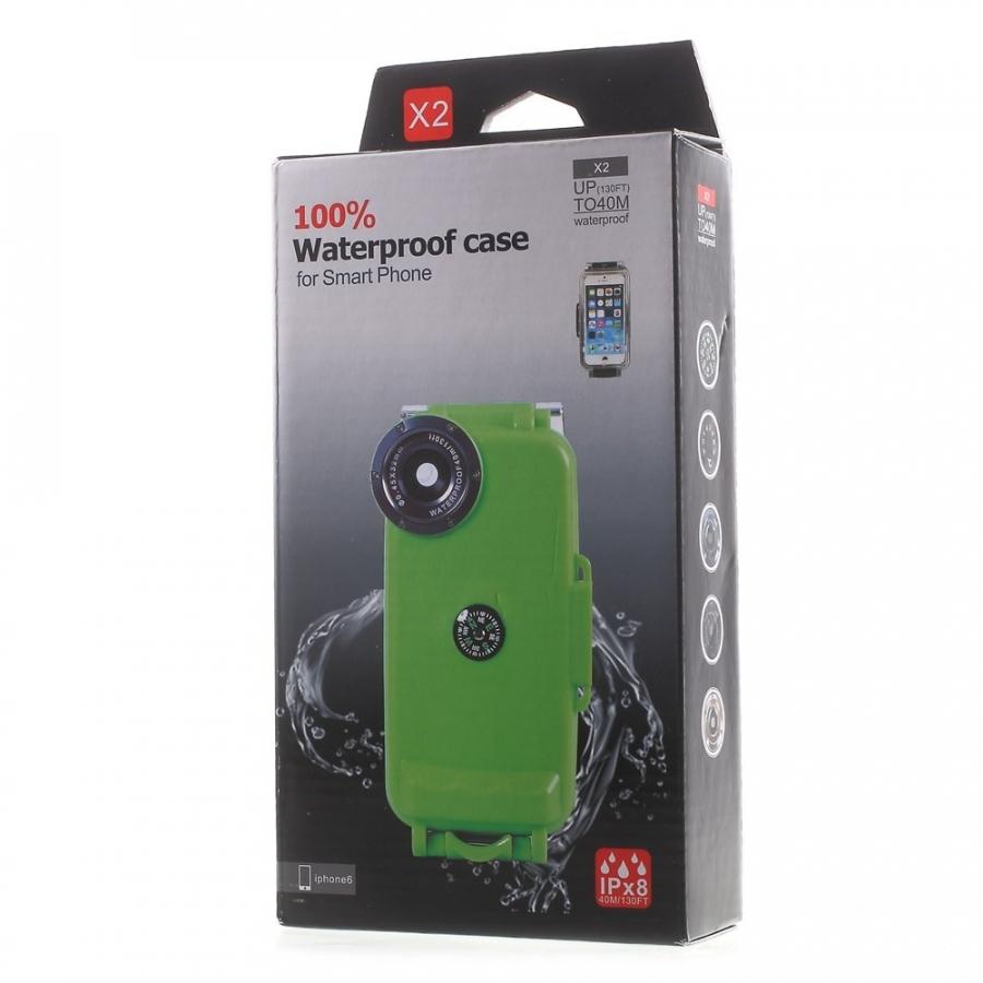 Vízálló IPX8 borító iránytűvel - Apple iPhone 6   6S - fekete ... c01798ad3c4