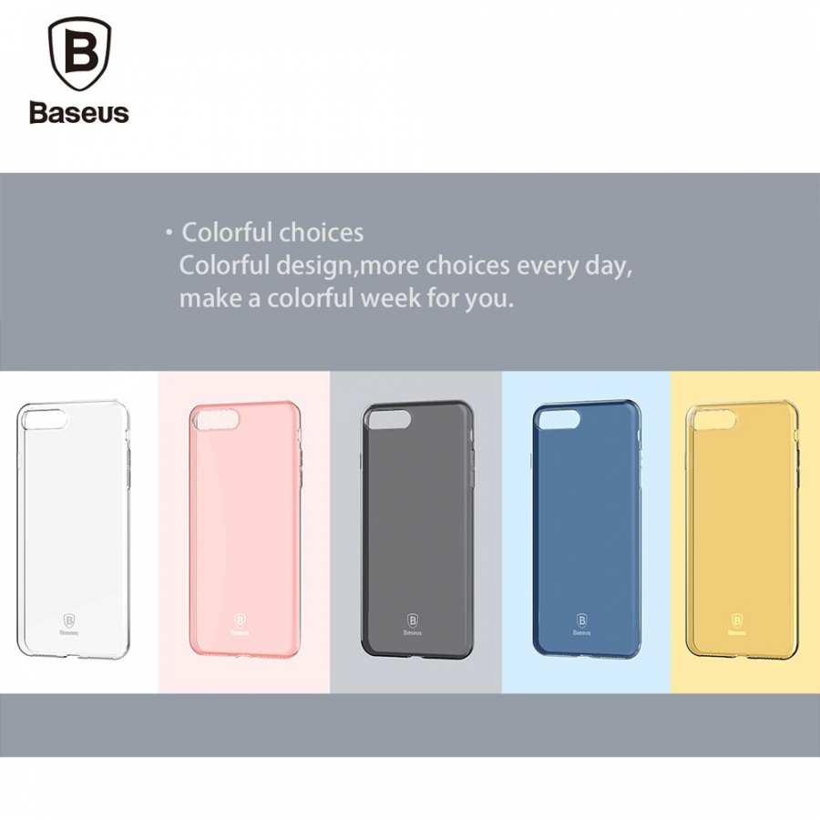 BASEUS vékony félig átlátszó tok - Apple iPhone 8   7 - kék ... f62bfe3897