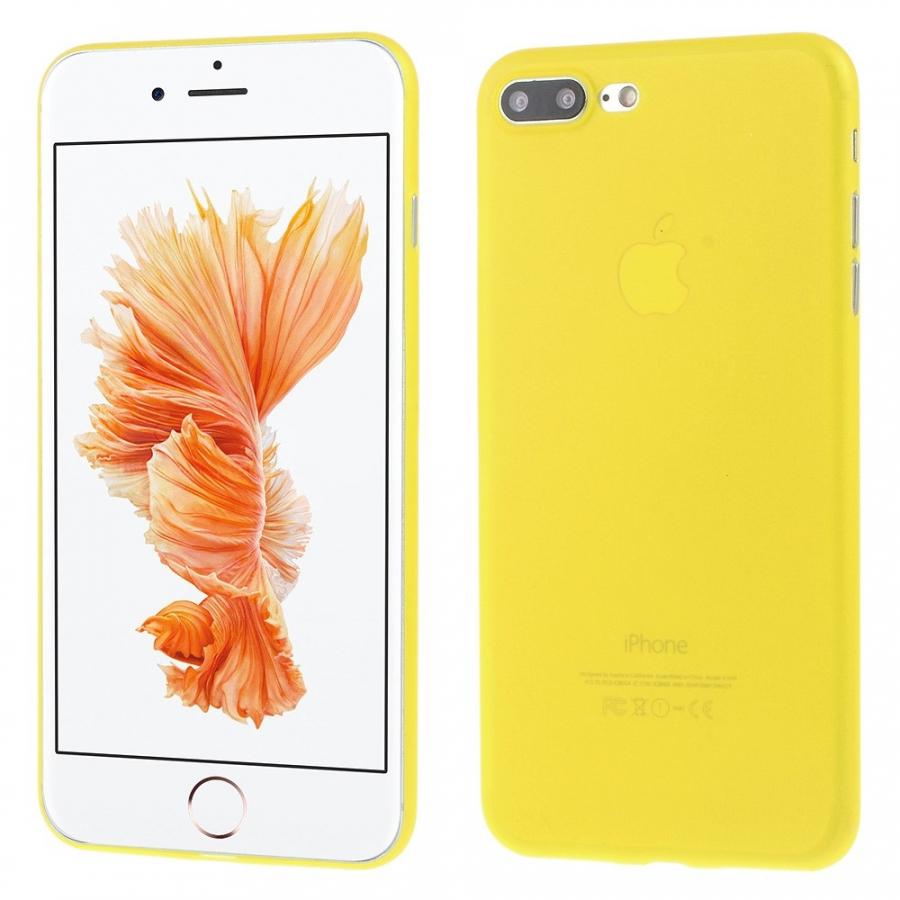a69f88ddc0 Ultravékony 0.3 mm matt tok - Apple iPhone 8 Plus / 7 Plus - sárga ...