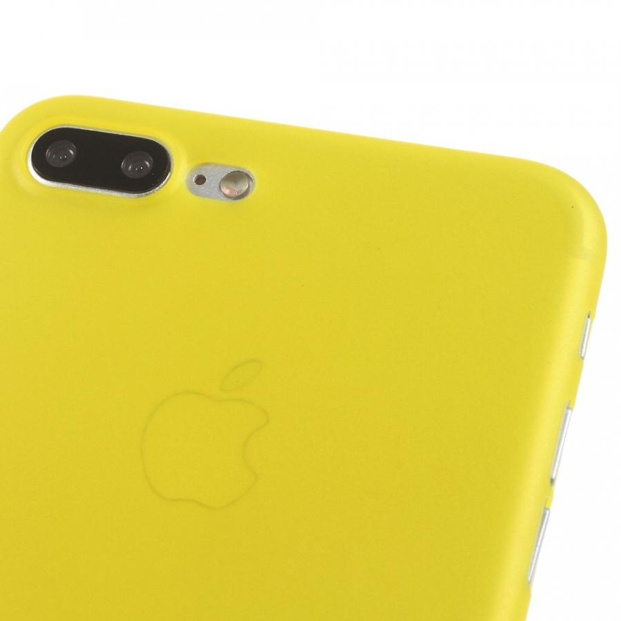 3ba2f6f68d ... Ultravékony 0.3 mm matt tok - Apple iPhone 8 Plus / 7 Plus - sárga ...