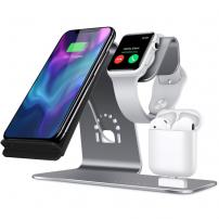 Bestand 3in1 töltőállvány Apple Watch / AirPods és gyors vezeték nélküli iPhone - szürke