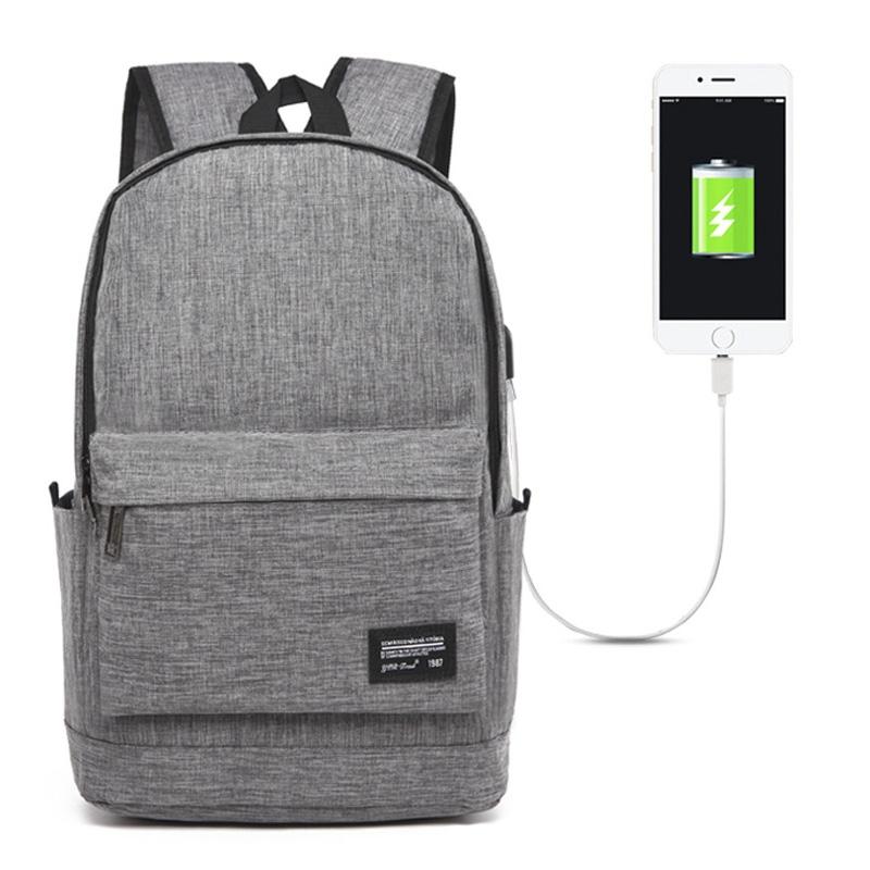 Univerzális hátizsák USB porttal (45x31x16cm) - szürke - AppleKing.hu cc15523a8f