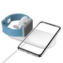 Töltő alátét iPhone és Watch - fehér