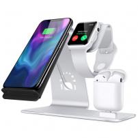 Bestand 3in1 töltőállvány Apple Watch / AirPods-okhoz és gyors vezeték nélküli iPhone - töltés