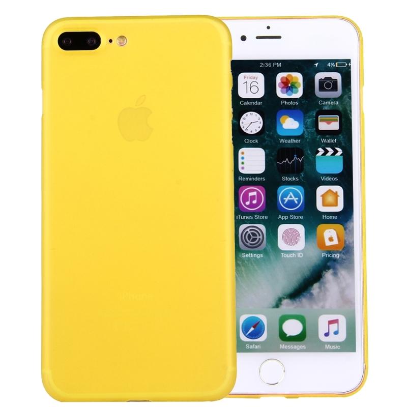 bb645cab79 Hátoldali matt védőtok Apple iPhone 8 Plus / 7 Plus -ra - sárga ...