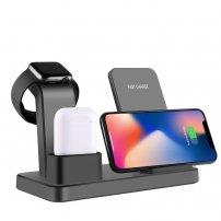 3 az egyben vezeték nélküli asztali töltő iPhone / Apple Watch / AirPods - fekete