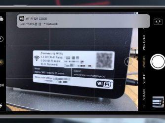 Fotoaparát v iOS 11 obsahuje čtečku QR kódů