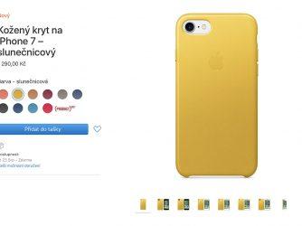 Kryty na iPhone v různých barvách mizí z Apple Storů