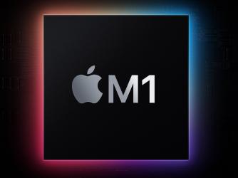 Na fotografii se nachází procesor M1 z projektu Apple Silicon
